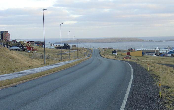 Kappríðing fór fram á Velbastaðvegnu úti Havnardali frá 1926 til 1972. (mynd Vagnur)