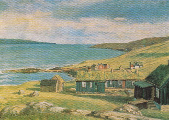 Argir fyri hundrað árum síðani. Oljumálningin málaði J. Waagstein. Ogn: M. Arge.