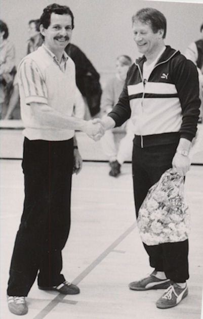 Igor og Peter Sigurd avmyndaðir í Vestmanna í 1986. (Mynd Vagnur)