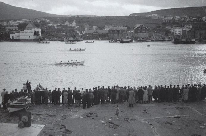 Vestaravág fyrst í 1950-árunum. Mynd Fornminnisavnið.