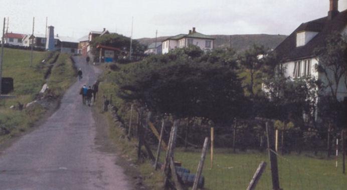 """""""Kinabrekkan"""" avmyndað í 1967. (Mynd Havnarmyndir - fyrr og nú)"""
