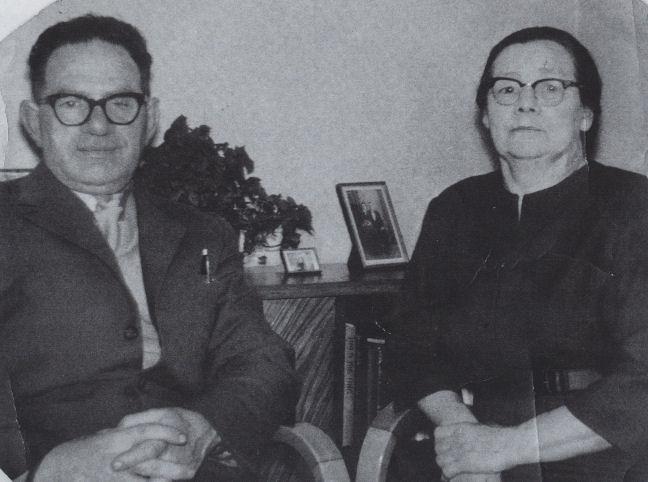 Herluft Arnason og Masa, sum var mammusystur Herman.