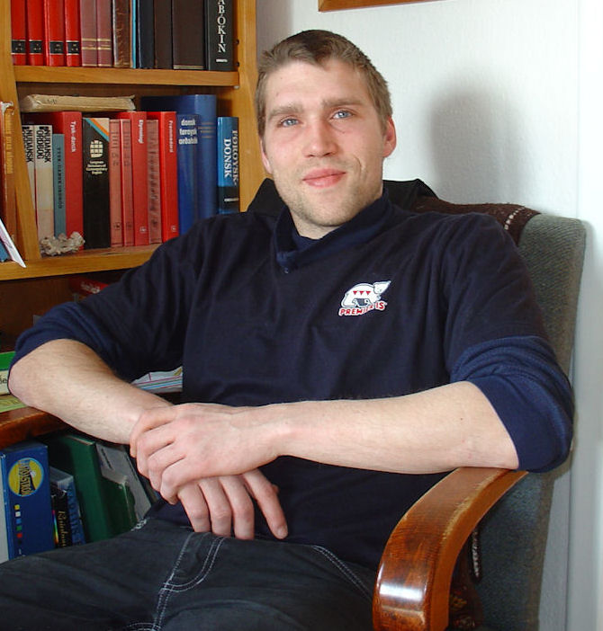 David kom fyrstu ferð til Føroya 5. november 2007 at spæla ið StÍF. (Mynd Vagnur)