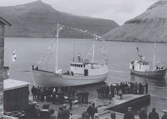Jøkul úr Klaksvík er seinasta veruliga træskip smíðað í Føroyum. (Mynd Siglandi arvurin)