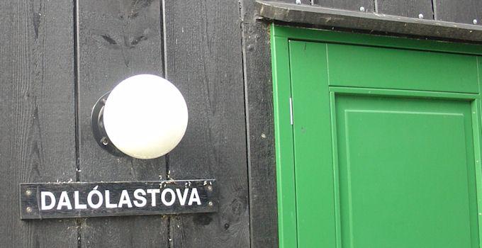 Tey hava varðveitt navnið Dalólastova á nýumvælda húsinum. (Mynd Vagnur)