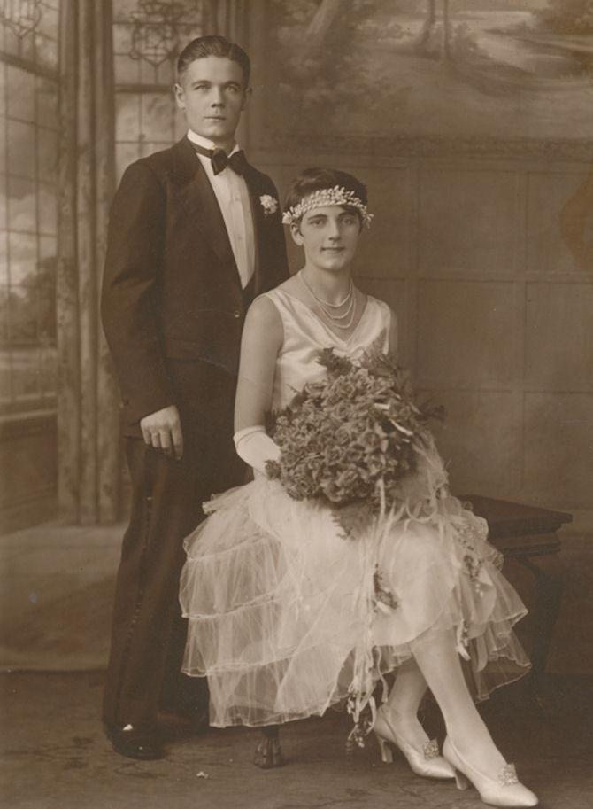 Brúðarparið Torvald og Christiane.