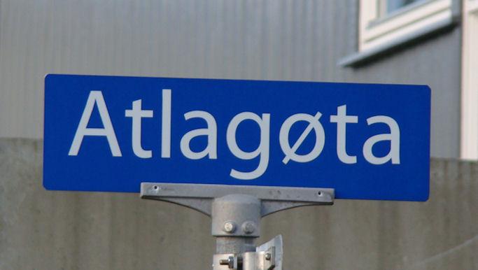 Onnur gøtu í Hoyvík átti at verið kallað Atlagøta, tí eingin hevur adressu Atlagøta. (Mynd Vagnur)