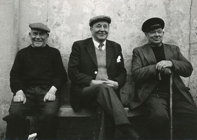 Trý kend andlit. Frá vinstru: Jóin Willhelmsen, Kjartan Mohr og Kristian Jacobsen.