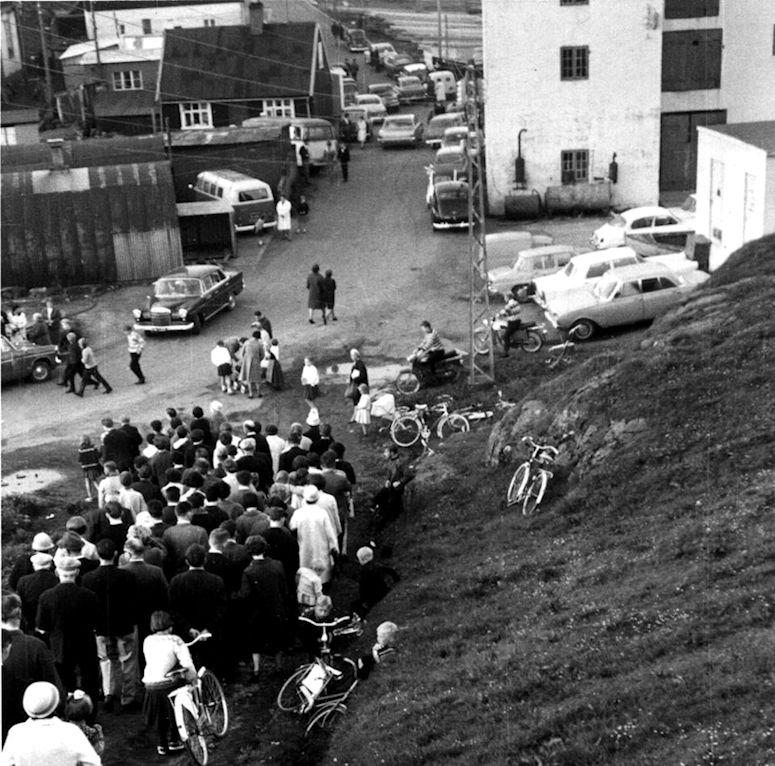 Myndin er tikin á ólavsøku í 1967. (Mynd: Christian Holm Jacobsens myndasavn)