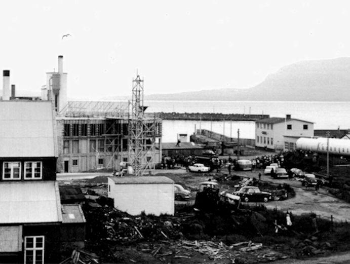 Saltsølan avmyndað í 1961. (Mynd Christian Holm Jacobsens myndasavn)