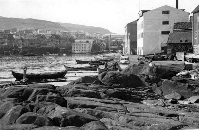 Áhugaverda myndin tikin miðskeiðis í 1950-árunum. (Mynd Christian Holm Jacobsens myndasavn)