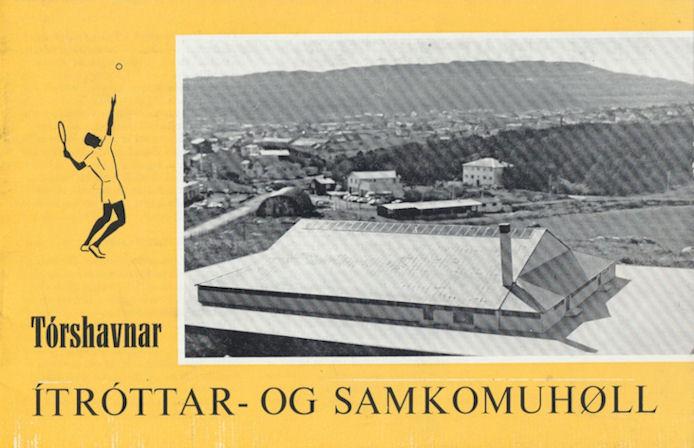 Forsíðan á faldara, sum varð gjørdur í 1967 til tess at vísa fólk, hvussu høllin fór at taka seg út í lendinum.