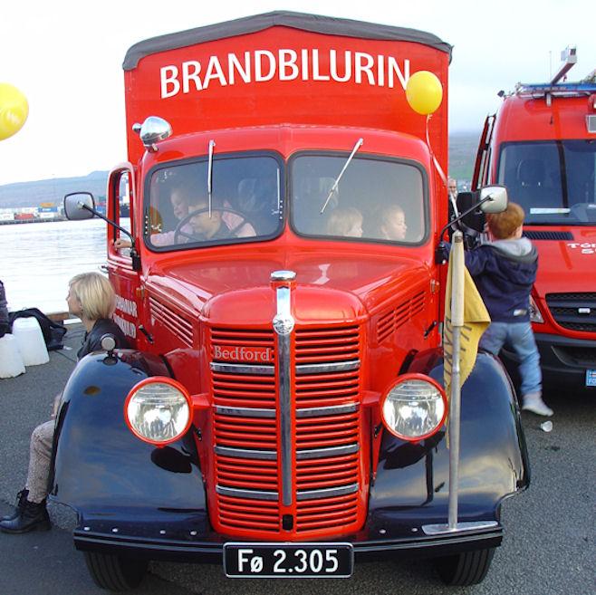 Tey hava varðveitt brandbilin frá 1948. (Mynd Vagnur)